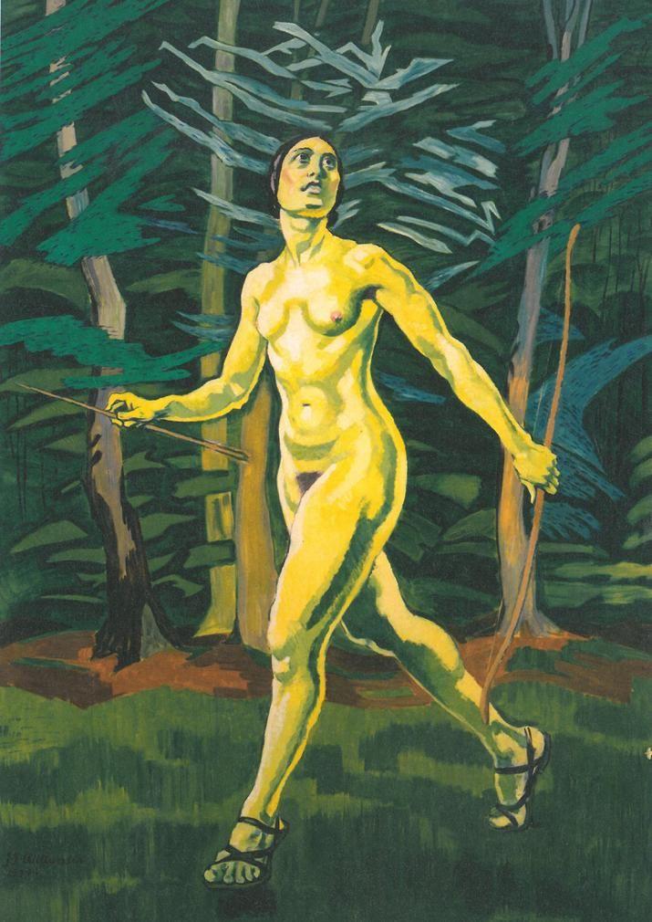 Jens Ferdinand Willumsen (Danish: 1863 - 1958) - The green girl 1922