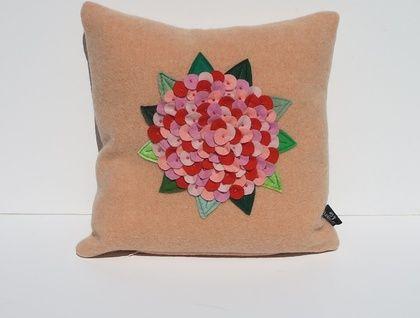 "Cushion  ""Hydrangea on Sherbet"""