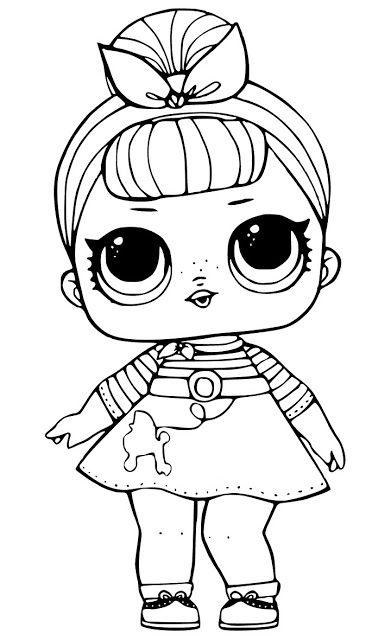 desenhos para colorir boneca lol niñas fieltro pinterest