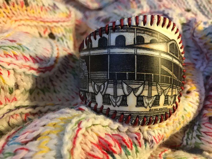 Wrigley Field - Baseball Cuff Bracelet by deniseandkimdesigns on Etsy