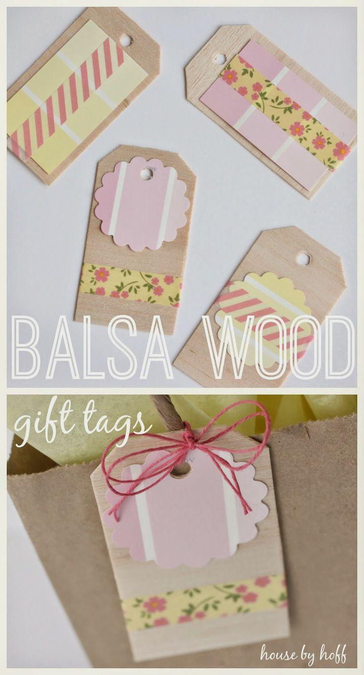 how to make gift tags via housebyhoff.blogspot.com