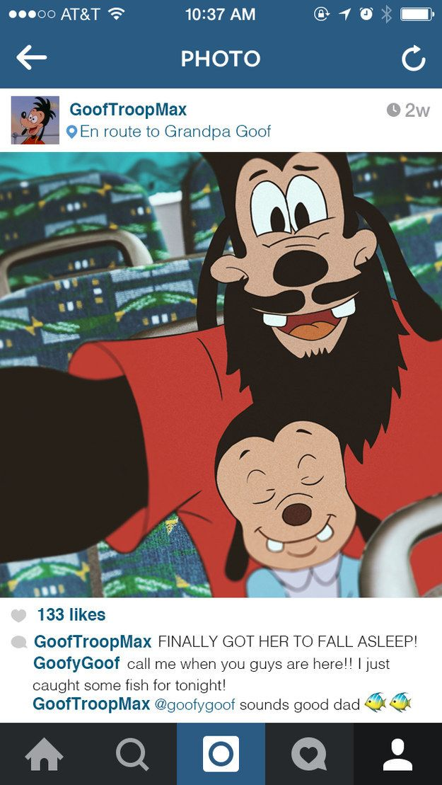 """And just like Goofy, he's totally nailing this whole dad thing. 