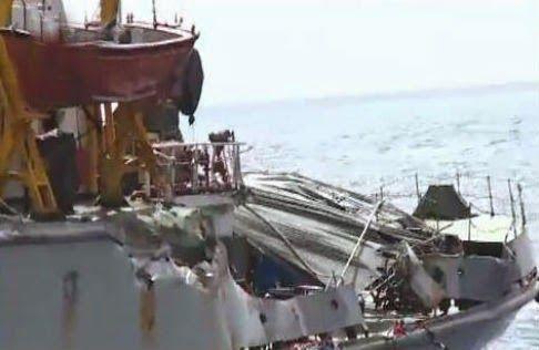Tàu Trung Quốc đâm va, gây biến dạng tàu Kiểm ngư Việt Nam