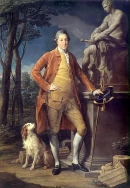 Pompeo Girolamo Batoni (1708-1778) Ritratto di John Staples Painting 1773 olio su tela