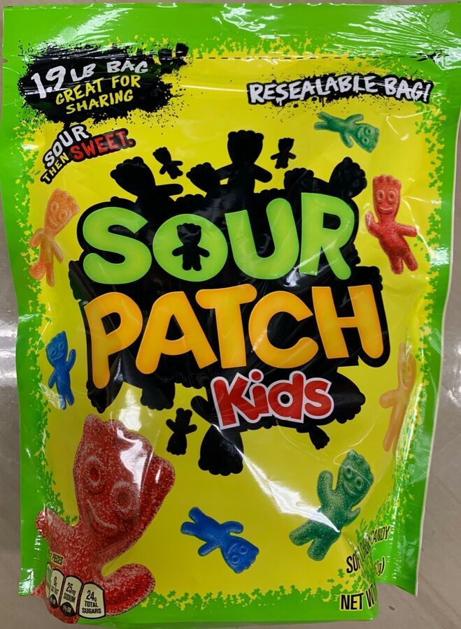 New Sour Patch Kids Sour Then Sweet Soft Chewy Candy 1 9 Lbs Resealable Bag 70462433098 Ebay Ad Sponsored Soft Sour Patch Kids Sour Patch Chewy Candy