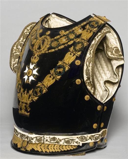 King of Westphalia Jérôme Bonaparte's parade cuirass and helmet