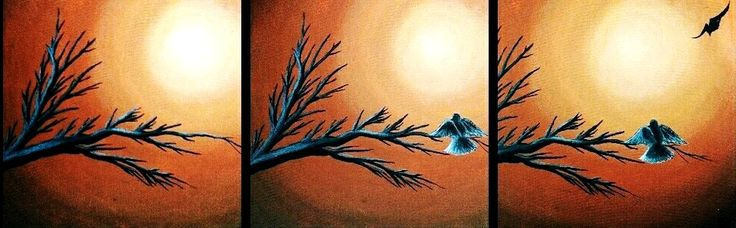 """""""waiting for you"""" original acrylic painting for sale price 100$"""