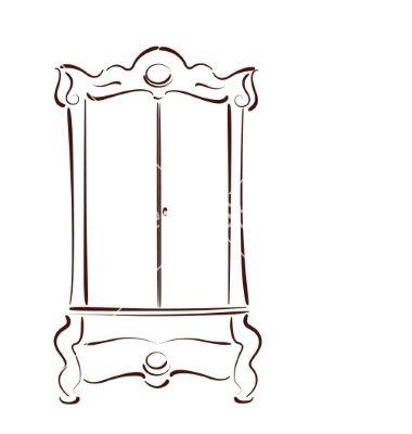 sketched-vintage-wardrobe-vector-6031383.jpg 380×400 pixels