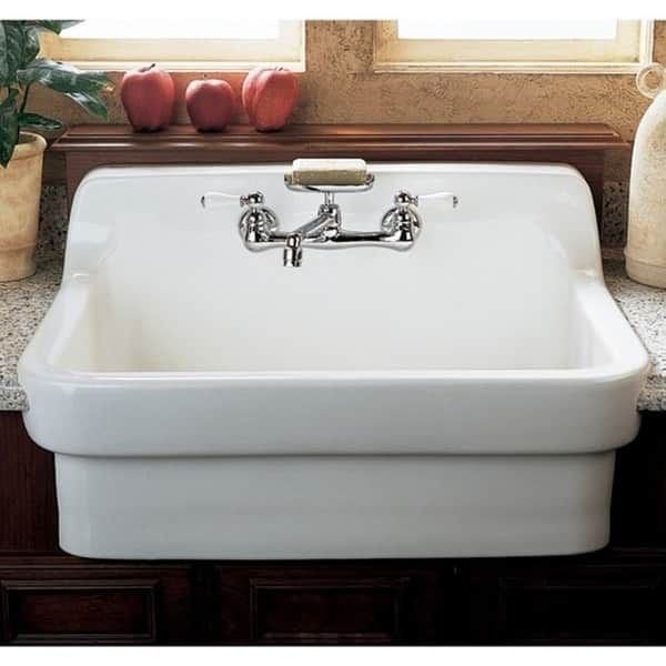 American Standard Country Porcelain White Utility Sink Farmhouse Sinks Kitchens Cottage