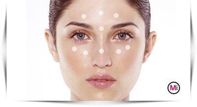 Puntjes Make-up Primer Aanbrengen