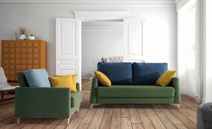 Sofá cama del fabricante Frances Bañon. Este fabricante es especialista en la fabricación de sofás cama con distintos mecanismos de apertura. De estilo moderno se fabrican en diferentes medidas y con posibilidad de tapizarlos en diferentes colores y tejidos. Medidad para colchón de 1508 x200 , 176 de ancho . Más medidas.