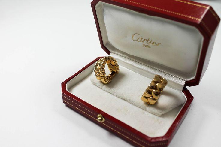 Cartier Ohrringe Gold in Box Markenschmuck https://www.ipfand.de/schmuck  #Cartier #Ohrringe #Markenschmuck #Pfandleihhaus