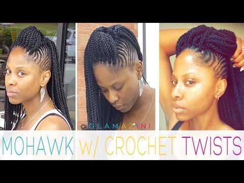 Cornrow Mohawk w/ Crochet Senegalese Twists [video] - Glamazini.com