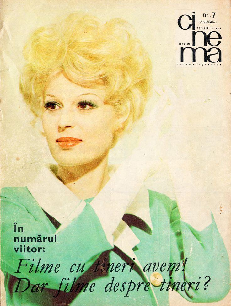 "Italian actress Silvana Mangano. Back cover of ""Cinema"" magazine (July 1968)."