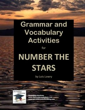 This Vocabulary and Grammar Activity Pack for Lois Lowry's Number the Stars helps students get the most out of the novel through an in-depth study of vocabulary and grammar using the text of the novel for instruction and practice. $4.99