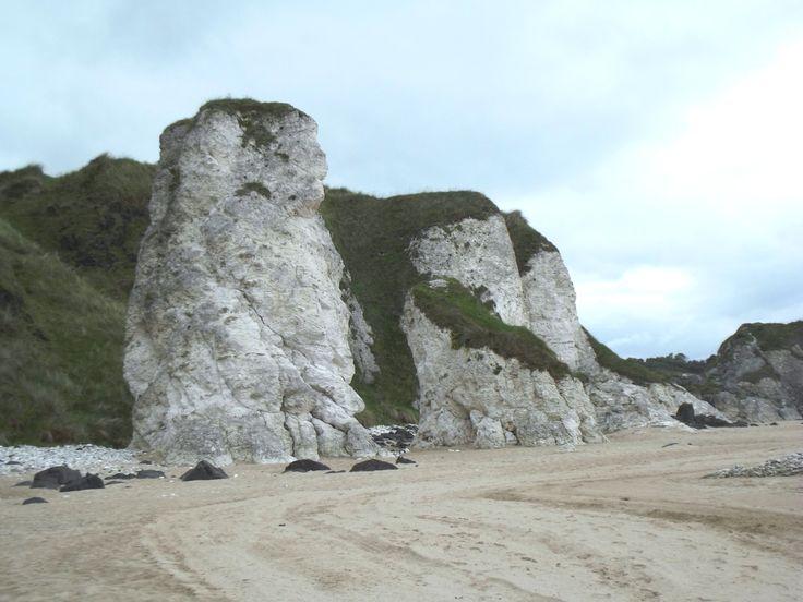 Chalk sea stack on North Antrim Coast
