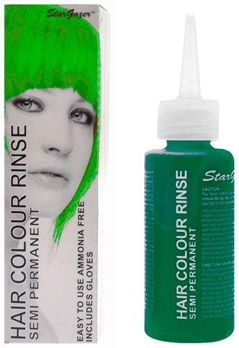 Coloration STARGAZER - African Green - #Teinture Verte #Cheveux Semi Permanente Pour une #Coiffure #Fluo #Cyber #Rock #Punk http://rockagogo.com