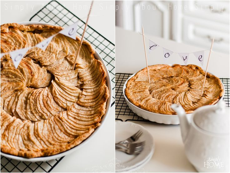 simply about home: All about love / krucha tarta z jabłkami / #homemade #applpie #food #foodstyling #diy