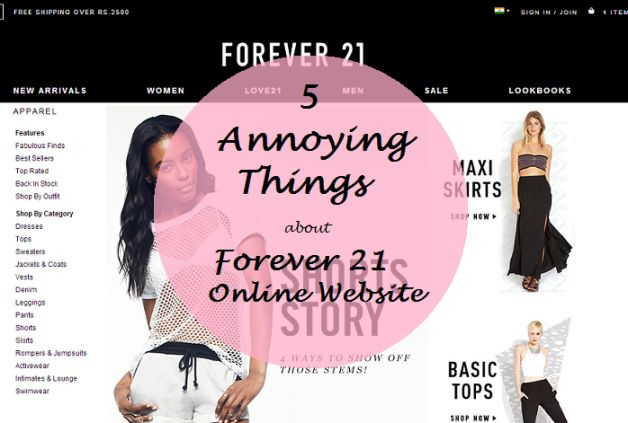 5 Annoying Things You Should Know About Forever 21 Online India Website and What To Buy