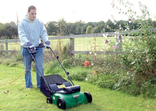 Draper 1,300-Watt Lawn Raker and ‪#‎Scarifier‬ , Removes matted grass, moss and other dead material to encourage healthy lawn growth, interchangeable scarifier and aerator drums -  Buy Now @ http://thebargainstop.co.uk/garden-bargains/Draper-1300-Watt-Lawn-Raker-and-Scarifier