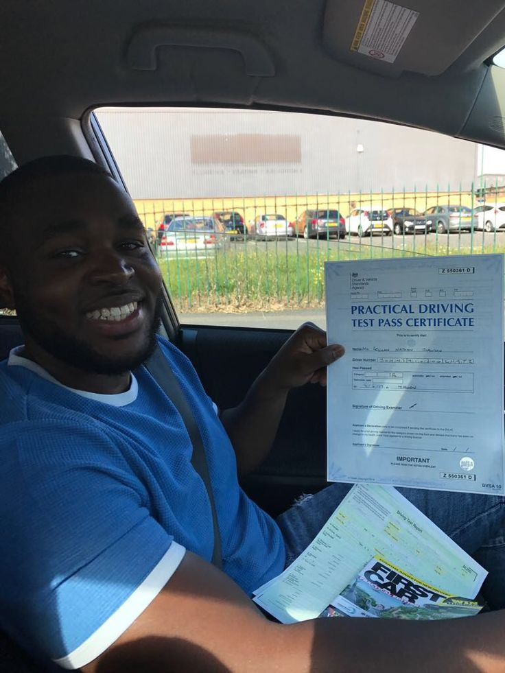 Well done to Lequan who took his driving lessons in Brixton and passed his driving test with London Driving School.