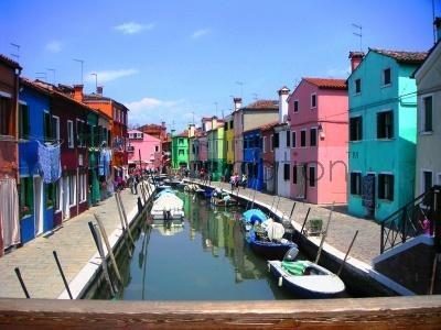 painted houses- burano, venice
