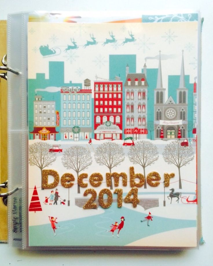 Check out this simple December Daily cover and title page! #scrapbooking #Christmas