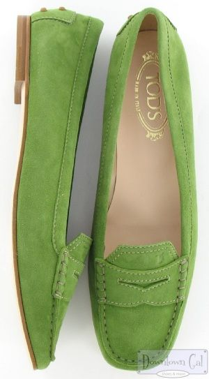 ~Tods green suede melanie flats | The House of Beccaria#