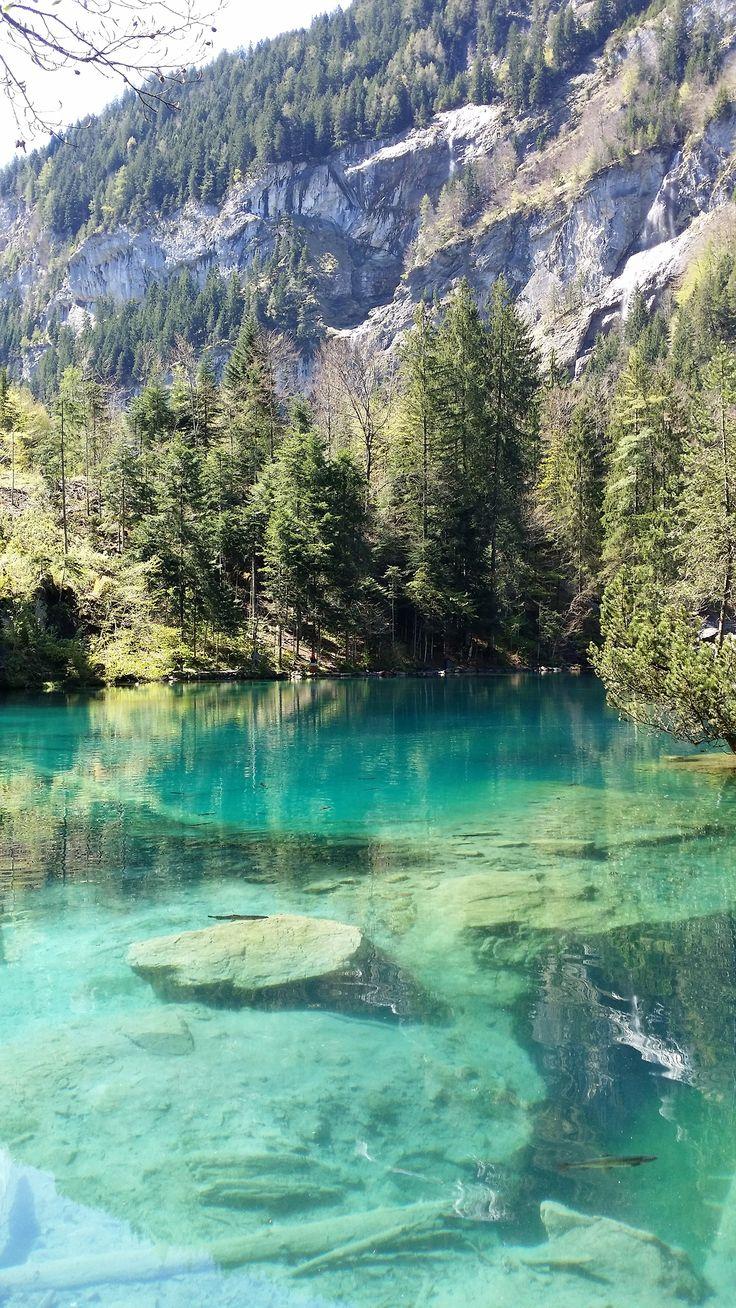 Blue lake..swiss alps