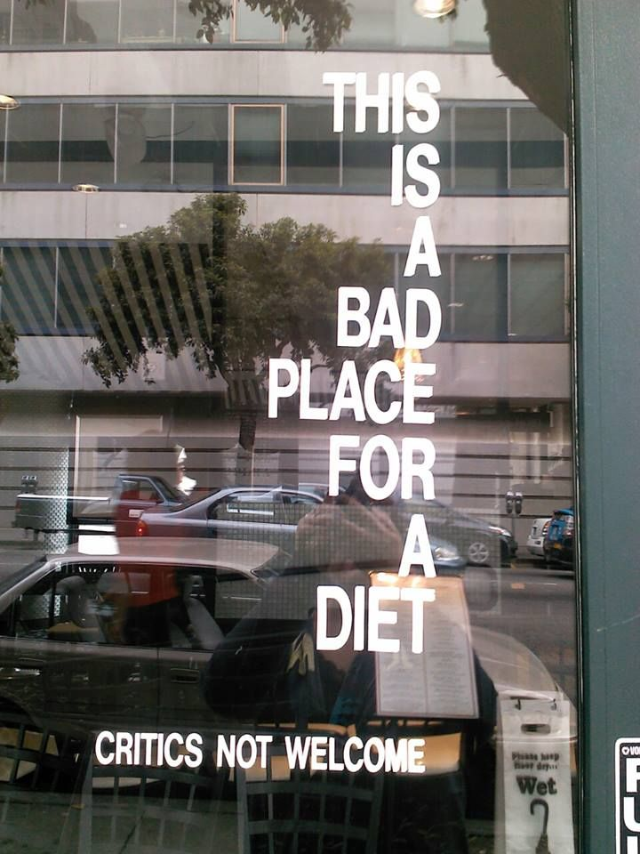 best restaurant window sticker ever!