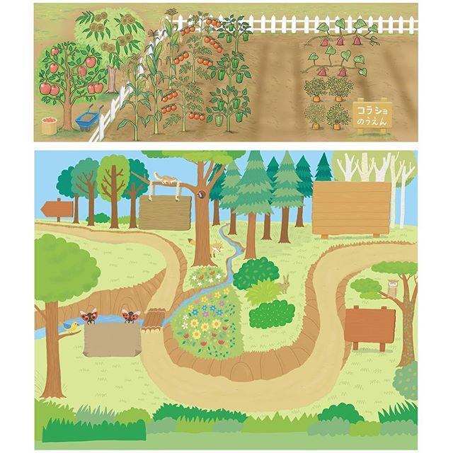 【amagaeru553】さんのInstagramをピンしています。 《チャレンジ1ねんせい「はてな?はっけんブック」夏・秋号のクイズページのイラストを描かせて頂きました! #illustration #drawing#textbook#quiz#learningbook#kids#収穫#植物#勉強#くだもの#イラスト#クイズ#harvest#vegetables#fruit#forest#woods#trees#nature#plants#garden#農業#畑#森#野菜#勉強》