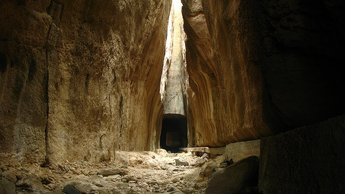 Titus' Tunnel, part of the ancient city of Seleucia in Pieria. Located in Antakya (Antioch), Turkey. Photo by we_like_it, via Flickr