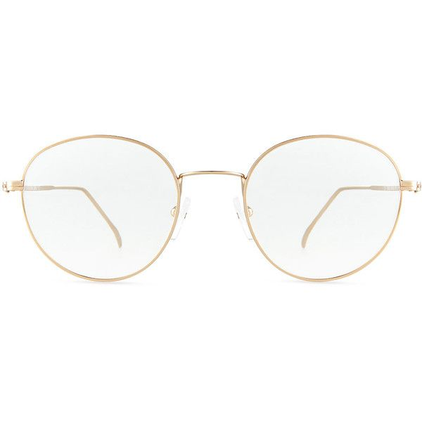 Illesteva Jefferson Round Wire Optical Frames ($175) ❤ liked on Polyvore featuring accessories, eyewear, eyeglasses, clear eye glasses, round eye glasses, round metal frame glasses, clear eyewear and lens glasses