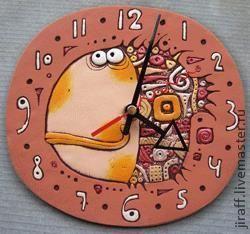 "Часы для дома ручной работы. Ярмарка Мастеров - ручная работа Рыба ""Куба"". Handmade."