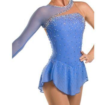 Light blue ice skating dress vestidos de competencia de patinaje artístico de encargo para las mujeres dress competencia de patinaje patinaje artístico dress