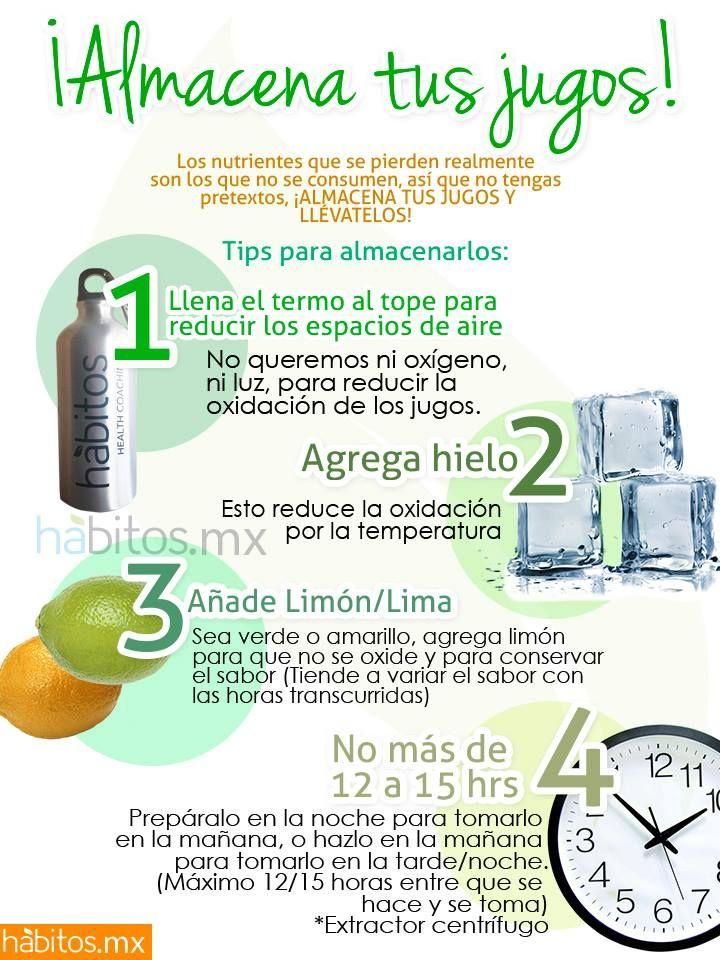 Hábitos Health Coaching | ¡Almacena tus jugos verdes!