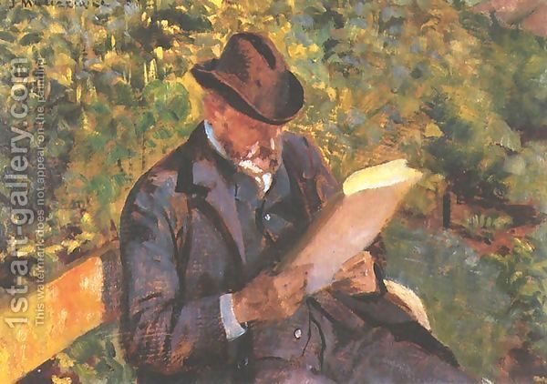 Jacek Malczewski:Portrait of a Man Reading