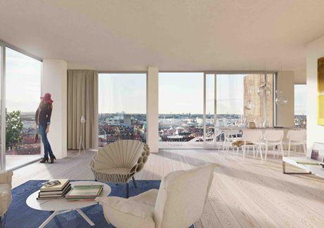 Oscar Properties : Helix och Innovationen #oscarproperties  apartment, city, design, architecture, living room