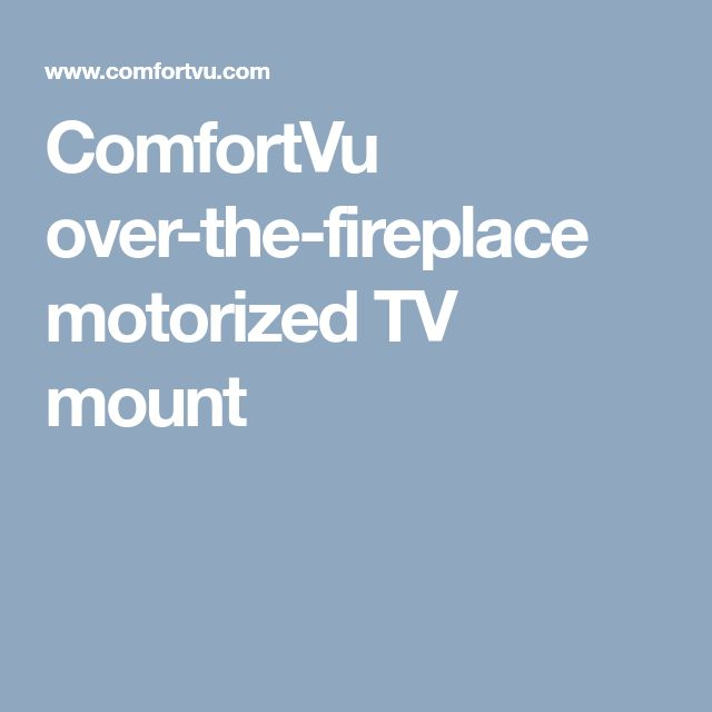 comfortvu motorized tv mount