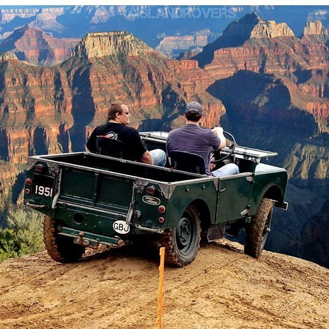 """""""C'mon, just put it in low range and let's go for it!"""" #Landrover #Series I"""