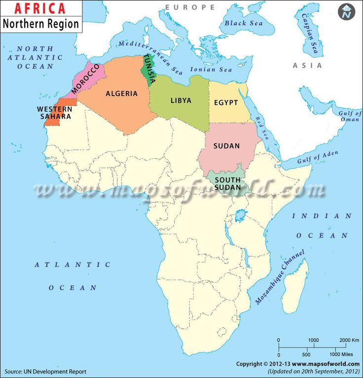 North Africa is a region of Africa, separated from the ...