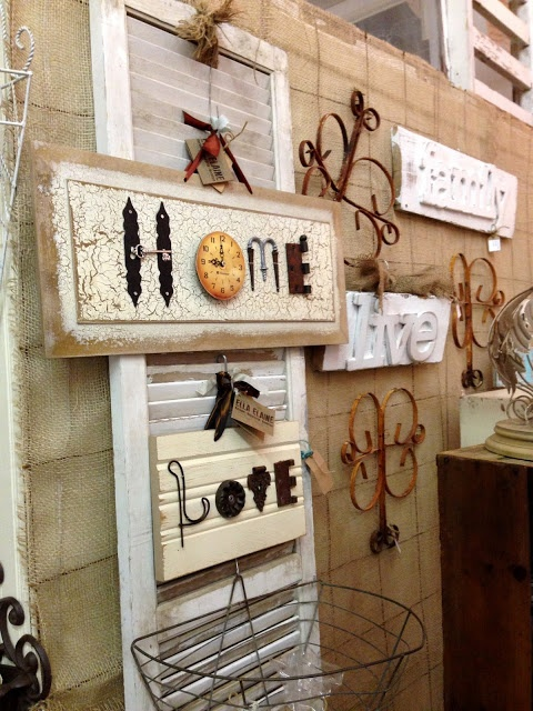 Word signs from cool junk