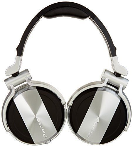 Pioneer Over Ear Headphones DJ Head Phones Equipment Noise Reduction Silver Best