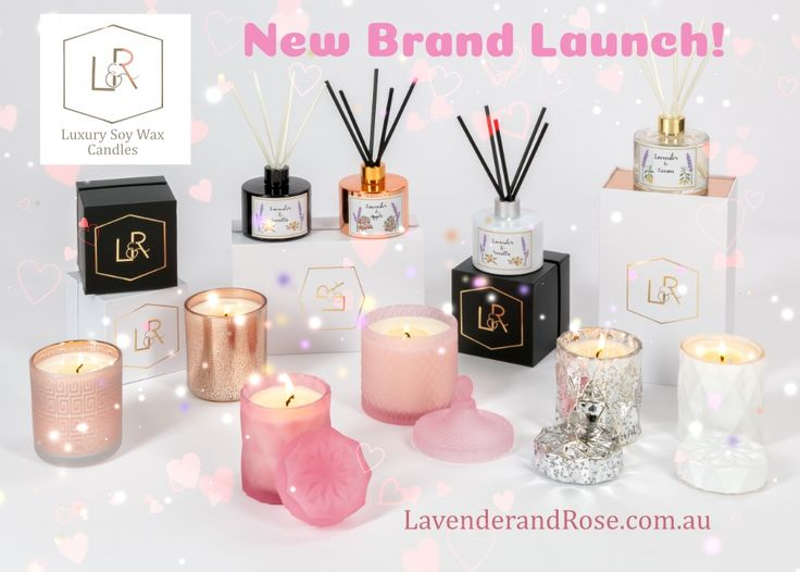 It's Brand Launch Day - I'm excited to debut my line of Luxury Scented Candles, Candle Vessels, and Lavender based Fragrances!  Please take a look and let me know what you think!