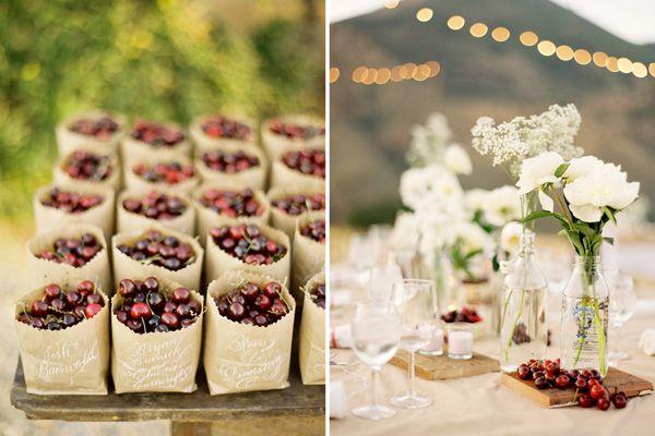 100 Ways To Personalize Your Wedding: fruit w/ flowers