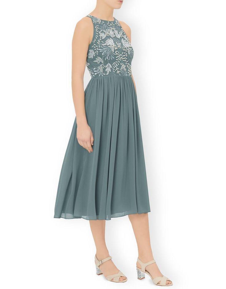 Monsoon Dresses-Loretta Midi Dress-Green 8451140710
