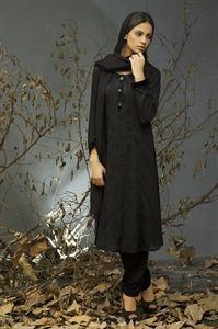 Black Linen Shalwar Kameez