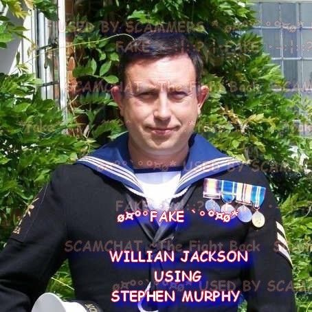 WILLIAN JACKSON... #FAKE.. USING THE STOLEN PICTURES OF STEPHEN MURPHY http://scamhatersutd.blogspot.co.uk/2017/05/willian-jackson-using-stephen-murphy.html …