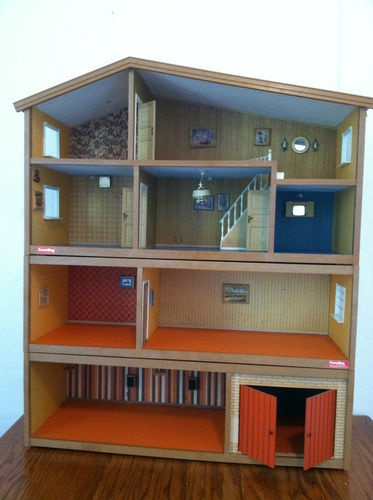 vintage lundby dollhouse . My grandparents gave this to me, minus the bottom floor, for Christmas in the mid-70's. My pride and joy. It had electricity!