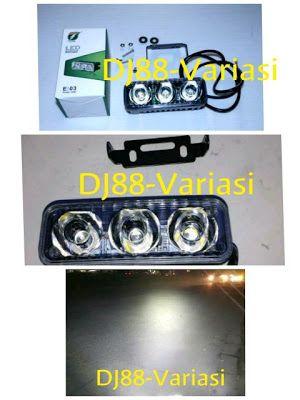 BERGUNA lampu tembak 3 mata led rtd cree 3 mata led 3 titik led lampu tembak sorot jalanan touring good quality UNIVERSAL SEMUA MOTOR